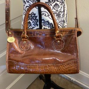 Brahmin Croc Leather Crossbody satchel
